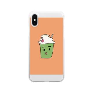 くりーむそーだ Clear smartphone cases