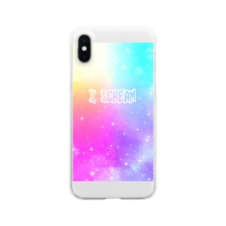 I Scream Universe Pale Rainbow Clear smartphone cases