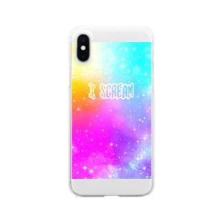 I Scream Universe Vivid Rainbow Clear smartphone cases