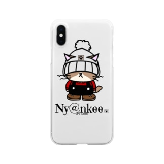 ニット帽のあいつ (Ny@nkee) Clear smartphone cases