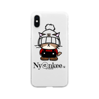 Ny@nkeeのニット帽のあいつ (Ny@nkee) Clear smartphone cases