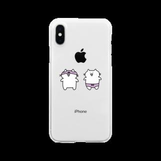 NNのおパンツ猫 Clear smartphone cases