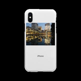 ひつじとねこの丸の内 Clear smartphone cases