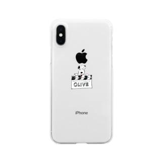 オリバー/カチンコ Clear smartphone cases