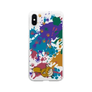 animal tracks Clear smartphone cases