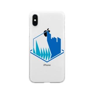 栄免ロゴ Clear smartphone cases