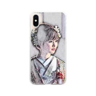 お見合い Clear smartphone cases