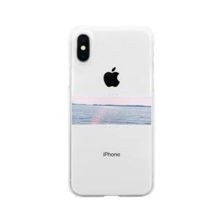 Lake Inawashiro Clear smartphone cases