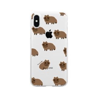 たぬきくん Clear smartphone cases