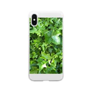 グリーンアイビー Clear smartphone cases