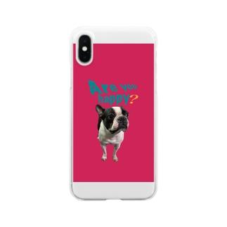 ボストンテリア スマホケース Clear smartphone cases