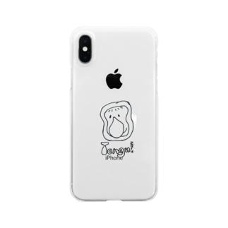 てんぐざるおじさん Clear smartphone cases