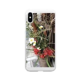秋の桶華 Clear smartphone cases