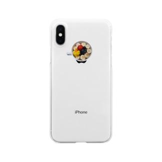ハワイのアサイー Clear smartphone cases