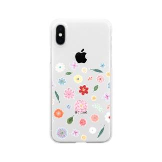 花図鑑 Clear smartphone cases