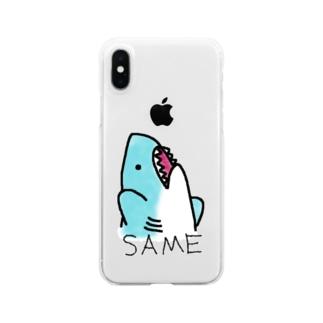 ぼってりさめちゃん!! Clear smartphone cases