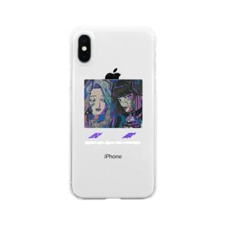 指名手配ガールズ Clear smartphone cases