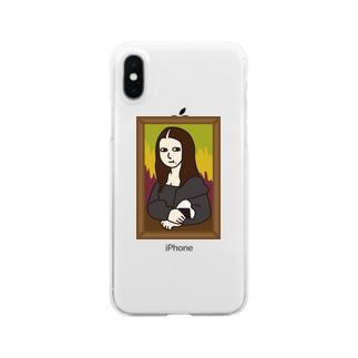 モナリザとおむすび Clear smartphone cases