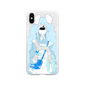 【5~X】お医者さんごっこ(青) Clear smartphone cases