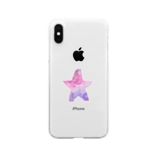 Happy STAR★ Clear smartphone cases