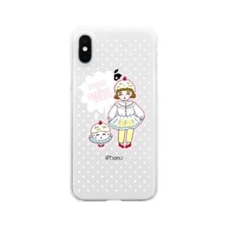 りかちゃんのみるくいちごガール Clear smartphone cases