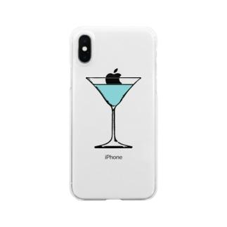 ブルーラグーン・カクテル Clear smartphone cases