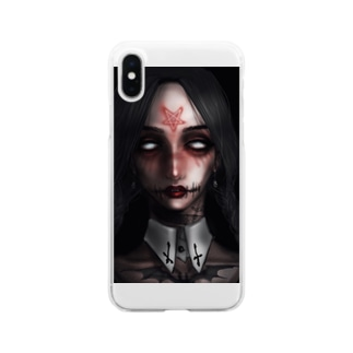 goth girl Clear smartphone cases