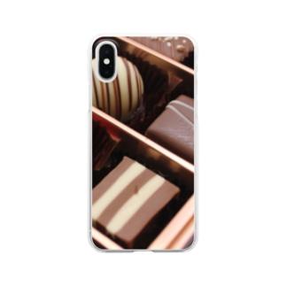 チョコレート2 Clear smartphone cases