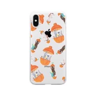 トコロコムギのフルーツアニマル・デコポン Clear smartphone cases