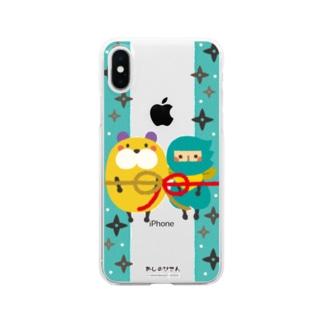 おしのびさん Clear smartphone cases