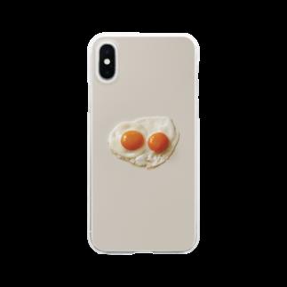 Kensuke Hosoyaの目玉焼き(2個) Clear smartphone cases
