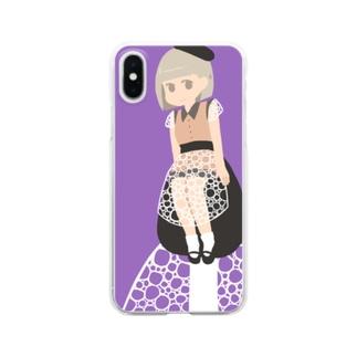キヌガサタケちゃんiPhoneケース Clear smartphone cases