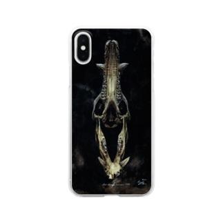 イノシシ頭骨 Clear smartphone cases