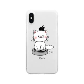 TAROPIのお掃除ねこ Clear smartphone cases