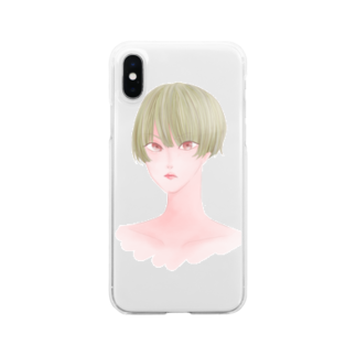 ketchup_ppの金髪 Clear smartphone cases