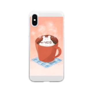 くましゅまろのホットチョコレート Clear smartphone cases