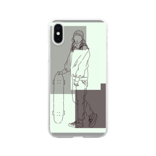 Ma Chérieのスケボ女子 Clear smartphone cases