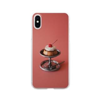 Kensuke Hosoyaのプリン(ピンク) Clear smartphone cases