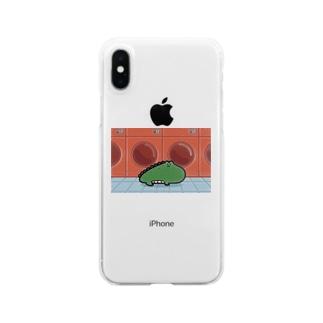 ワニガエル Clear smartphone cases