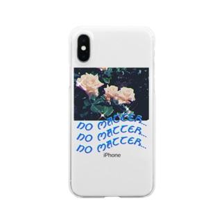 コ八ルのno matter... Clear Smartphone Case
