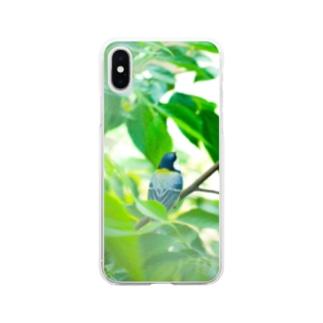 シジュウカラ Clear smartphone cases