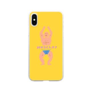 筋肉はつよいマン Clear smartphone cases
