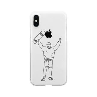 あーのちゃんのスケートボードだいすきな男の子 Clear smartphone cases