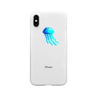 よるののクラゲ Clear smartphone cases