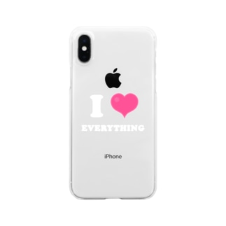 yossibleのI LOVE EVERYTHING Clear smartphone cases