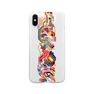 天照龍 零弐式改 Clear smartphone cases