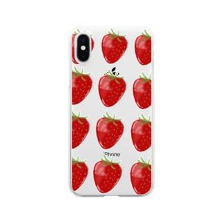 いちご Clear smartphone cases