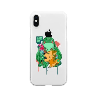 地獄で一服ヲ&目デ殺ス クリアタイプ Clear smartphone cases