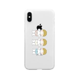 おぱんつきょうだい Clear smartphone cases