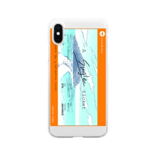 A single ticket Clear smartphone cases